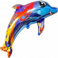 """36"""" Multicolor Dolphin Jumbo Balloon"""