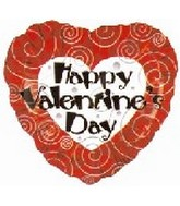 "18"" Happy Valentine's Day Classic Swirls"