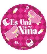 """18"""" Es Una Nina Sheep Spanish Balloon"""