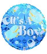 """9""""  Airfill It's a Boy Checkered Sheep Balloon"""
