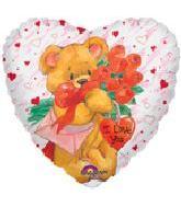"18"" Simon Elvin I Love You Bear w/Heart"