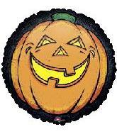 """30"""" Black Border Pumpkin"""