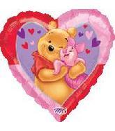 "34"" Piglet & Pooh Heart Balloon"
