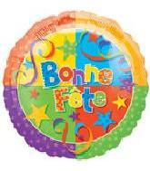 "18"" Bonne Fete Party Mylar Balloons"