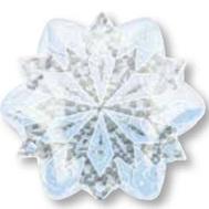 "21""Junior Shape Holographic White Christmas Snowflake"