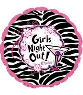 "18"" Girls Night Out Woohoo! Balloon"
