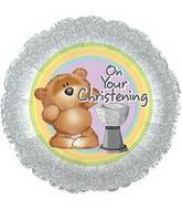 """17"""" On Your Christening foil Balloon"""