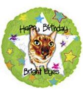 """18"""" Happy Birthday Bright Eyes Cat"""
