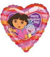 "18"" Dora & Boots Happy Valentine's Day"
