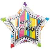 "32"" Happy Birthday Inliners Balloons"