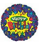 "34"" Yellow Star Happy Birthday"