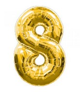 "34"" Anagram Brand Gold Number 8"