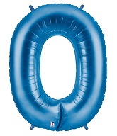 """40"""" Large Number Balloon 0 Blue"""