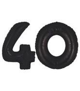 "40"" Black Megaloon Numbers ""40"""