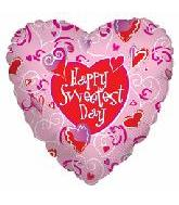 """18"""" Sweetest Day Pink Hearts"""
