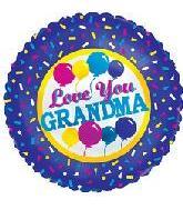 "18"" Love You Grandma Purple Border"