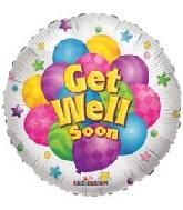 """18"""" Get Well Soon Many Balloon"""