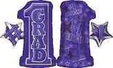 "28"" #1 Grade Shape Purple Mylar Balloon"