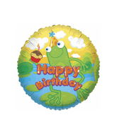 """18"""" Happy Birthday with Frog Balloon"""