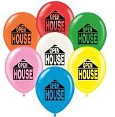 "17"" Open House Printed Latex Balloons 50 Per Bag"