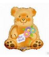 "13"" Airfill Get Well Bear Shape"