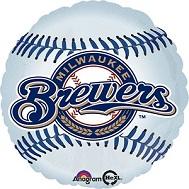 "18"" MLB Milwaukee Brewers Baseball Balloon"