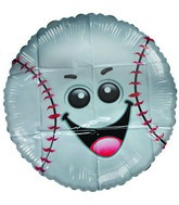 "18"" Little Friend Kit Baseball Happy Face Balloon"