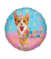 "9"" Airfill Happy Birthday Cat Party"