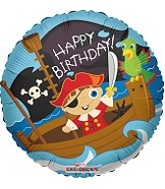"18"" Happy Birthday Pirate Boy Balloon"