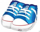 """21"""" Baby Boy Shoes Shape Mylar Balloon"""