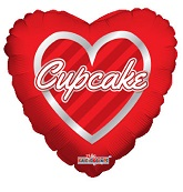"""9"""" Airfill Only Cupcake Hearts Wreath"""