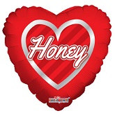 "9"" Airfill Only Honey Hearts Wreath"