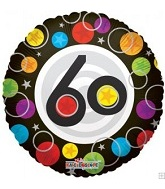 "18"" Foil Balloon Number 60 Dots"