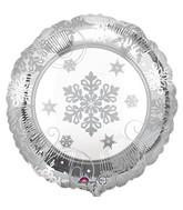 """18"""" Sparkling Snowflake Balloon"""