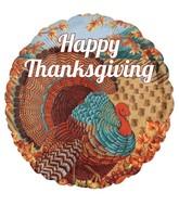 """18"""" Happy Thanksgiving Turkey Balloon"""