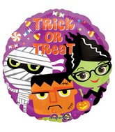 """18"""" Trick or Treat Monsters Balloon"""