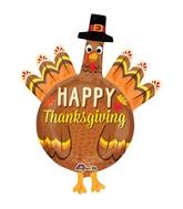"38"" Thanksgiving Pilgrim Turkey Balloon"