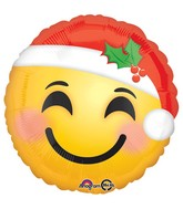 "18"" Santa Hat Emoji Balloon"
