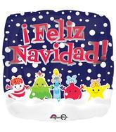 "18"" Feliz Navidad Friends Balloon"