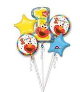 Bouquet Sesame Street 1st Birthday Balloon