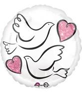 """18"""" Wedding Doves Balloon"""