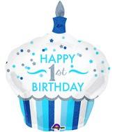 "36"" 1st Birthday Cupcake Boy Balloon"