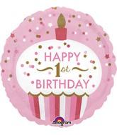 "18"" 1st Birthday Cupcake Girl Balloon"