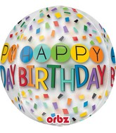 """16"""" Happy Birthday Rainbow Balloon"""