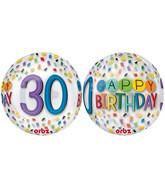 "16"" Happy 30th Birthday Rainbow Balloon"