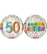 "16"" Happy 50th Birthday Rainbow Balloon"