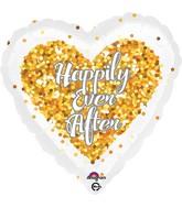 "18"" Confetti Wedding Heart Balloon"