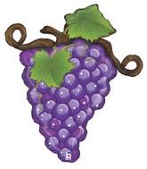 "31"" Foil Shape Linky Grapes - Purple"