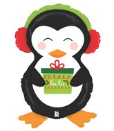 "34"" Foil Shape Holiday Penguin"