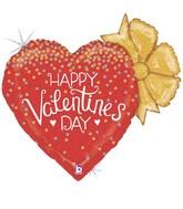 """29"""" Holographic Shape Glittering Valentine Confetti Heart"""